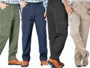 Trousers Casual Mens Action Work Walking  Big Sizes Hiking Combat Cargo W50/60